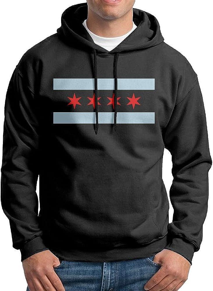 FDLB Men Flag Of Chicago Visor Vintage Hoodie Hoodies Black