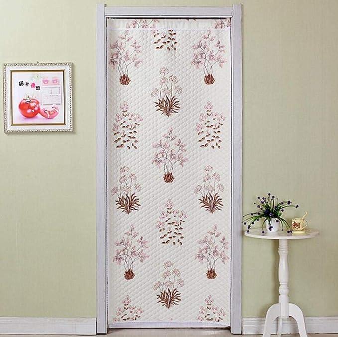 BGAOLIGUO Cortina opaca para puerta de baño, telescópica, cortinas para ventana, cortinas de invierno cálidas: Amazon.es: Hogar