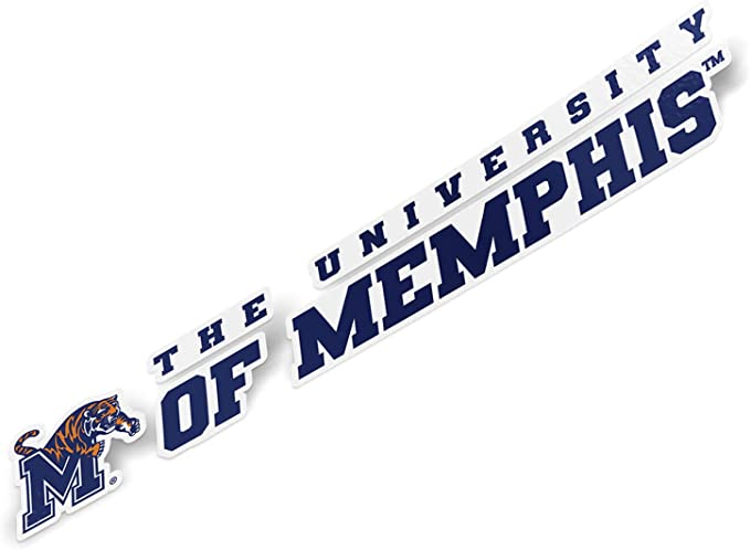 3-Pack NCAA Memphis Tigers Team Decal
