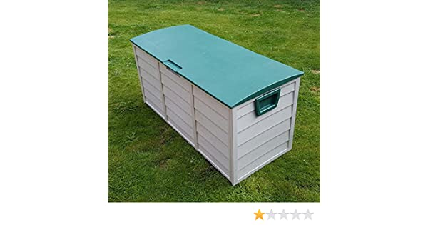 Caja de almacenamiento Home and Garden Products, de plástico, para jardín al aire libre, 310 L: Amazon.es: Jardín