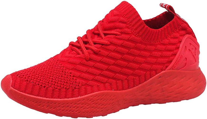 Zapatos para Correr Hombre Calcetines Zapatillas de Deportivo Slip on Sneakers de Gimnasia Jogging Low Top Calzado Knit Transpirables Fitness Negro Azul Gris Verde Rojo Blanco 39-44: Amazon.es: Zapatos y complementos