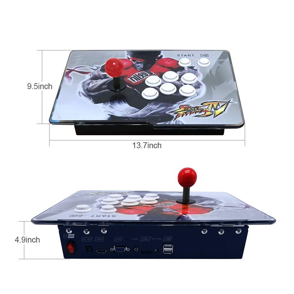 PinPle Arcade Game Console 1080P 3D & 2D Games 2260 2 in 1 Pandora's Box 3D 2 Players Arcade Machine with Arcade Joystick Support Expand Games for PC / Laptop / TV / PS4 (Pandora's Box) by PinPle (Image #5)