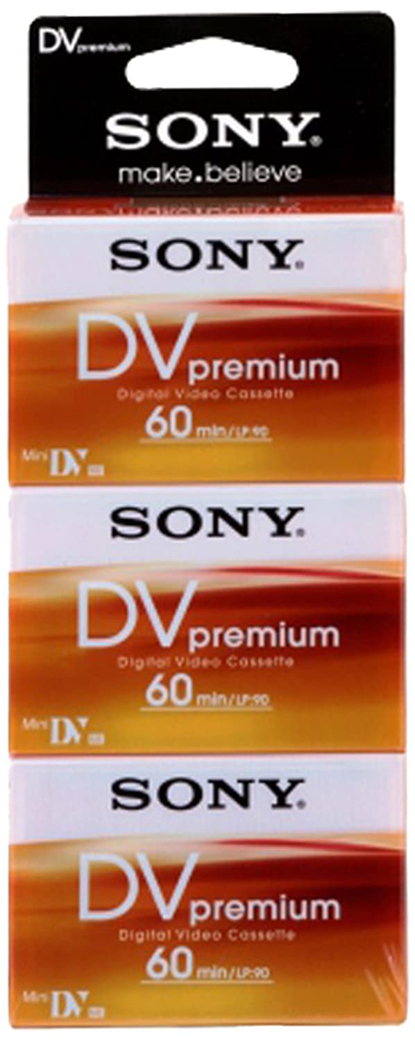 Sony DVM 60 PR Video cassette - Confezione da 3 5584138 Supporti Vergini DV media