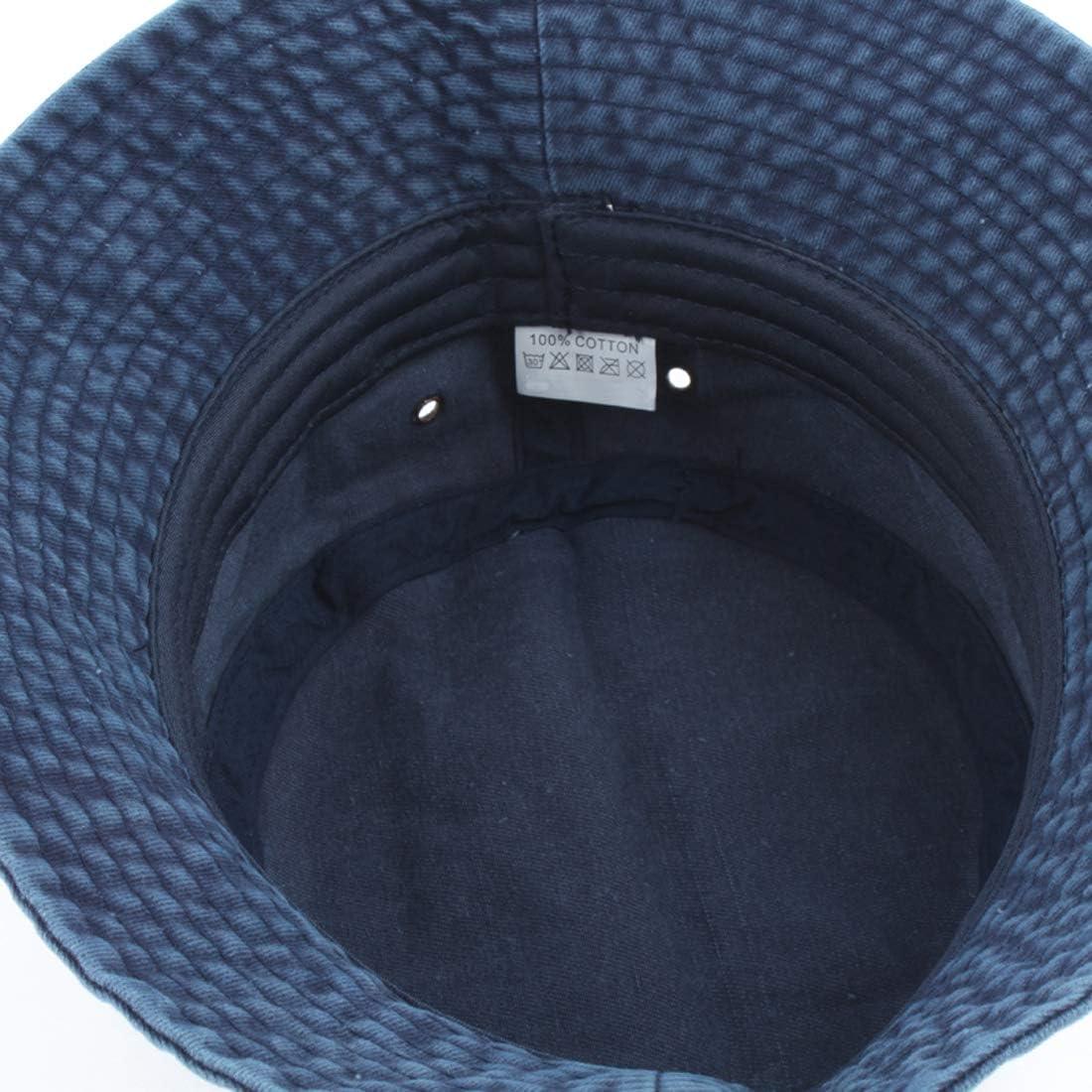 Yixda Vintage Cotton Fischerhut Sonnenhut Washed Retro Outdoor Bucket Hat
