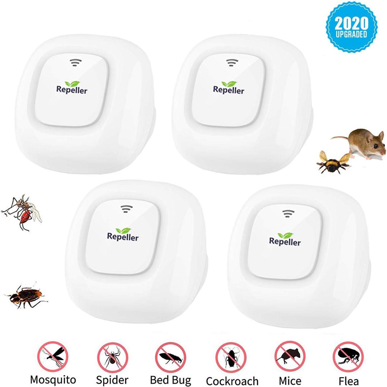 Hormigas y Otros Insectos y roedores Repelente ultras/ónico para plagas Repelente de Mosquitos ZHENROG Repelente de plagas contra Mosquitos Repelente de Ratones