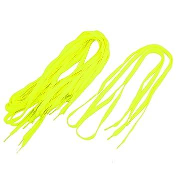 La vogue Cordones Agujetas de Zapatos Plano Color Puro (Amarillo Fluorescente) 4mwNpEu