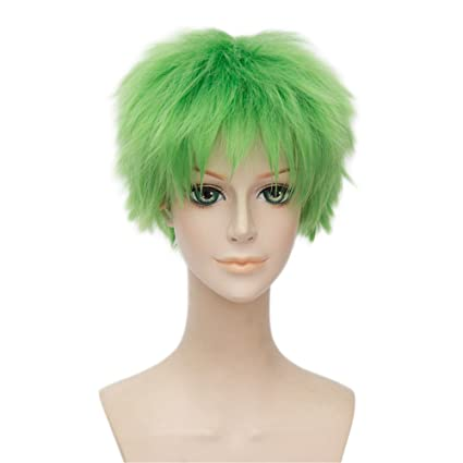 LanTing Cosplay Peluca One Piece Roronoa Zoro Green Short Styled Woman Cosplay Party Fashion Anime Human