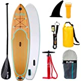 """DAMA Inflatable Stand up Paddle Board (9'6""""30""""6""""), ISUP Board, Drop Stitch & PVC, Traveling Board, Yoga Board, Floating…"""