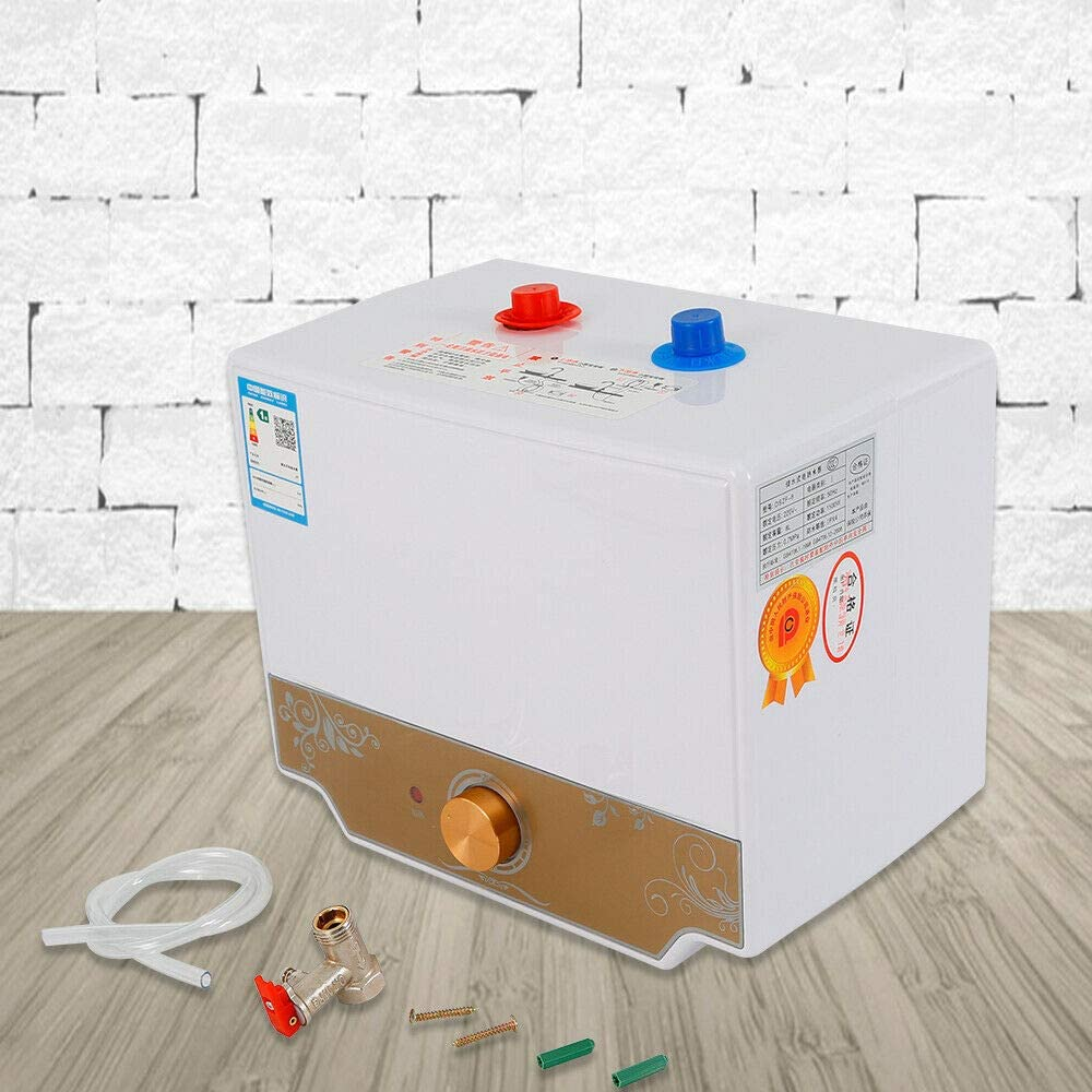 WUPYI2018 8L Durchlauferhitzer Warmwasserbereiter Boiler Warmwasserspeicher 30-75/°C Wasser Wasserdichtigkeit