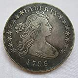 1796 Draped Bust Brass Silver Plated Dollar Copy Coins