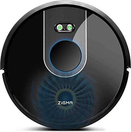 Zigma Robot Aspirador, Navegación Laser, Fuerte Succión, Barre, Friega, Captura Alérgeno, App Control, Múltiples Mapas, Alexa, Google Assistant y Siri: Amazon.es: Hogar