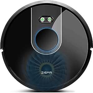 Zigma Robot Aspirador, Navegación Láser, Captura Alérgeno, Fuerte Succión, Barre, Friega, App Control con Múltiple Mapas, Limpieza de Áreas, Alexa y Siri, para Suelo Duro y Mascota