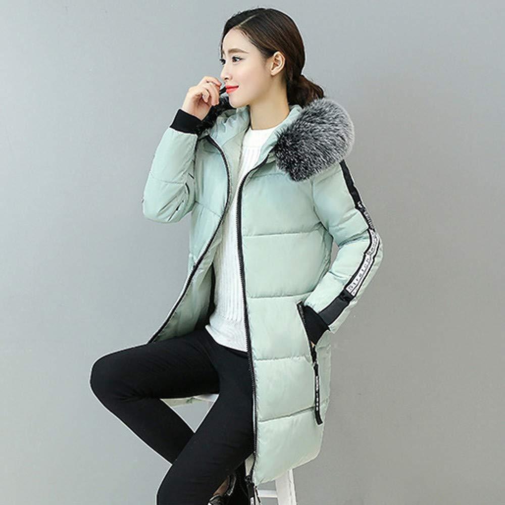Limsea Women Jacket Coat Outwear Casual Warm Hooded Slim Fit Thick Fur Collar Zipper