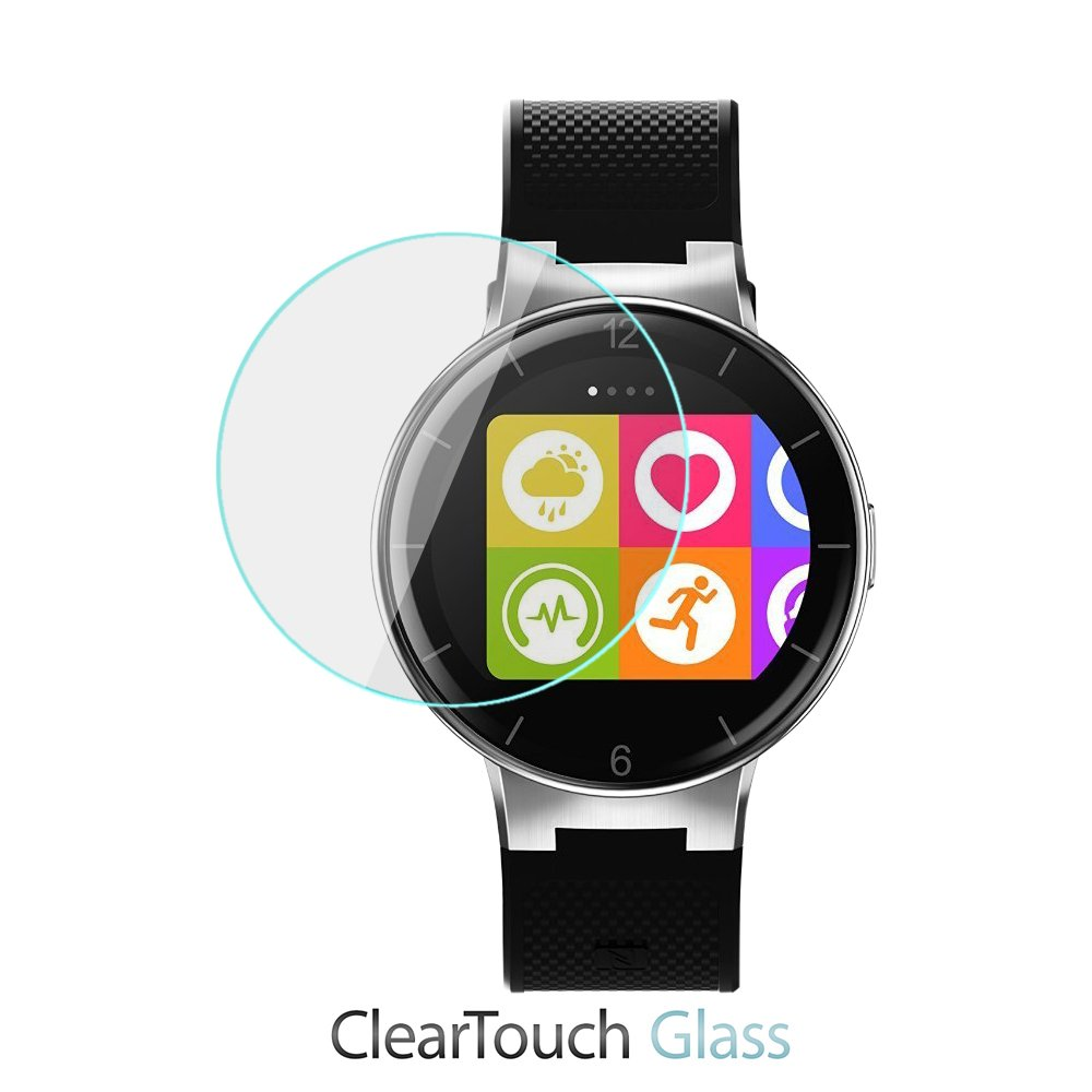 Alcatel OneTouch Watchスクリーンプロテクター、BoxWave [ ClearTouchガラス] 9h強化ガラス画面保護for Alcatel OneTouch Watch   B07BC7C6F9