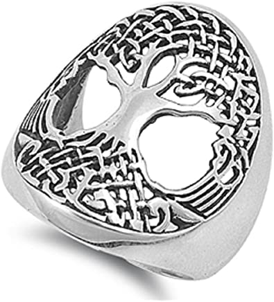 Princess Kylie Sterling Silver Celtic Tree of Life Ring