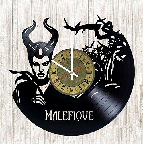 Maleficent vinyl record wall clock Walt Disney Villains
