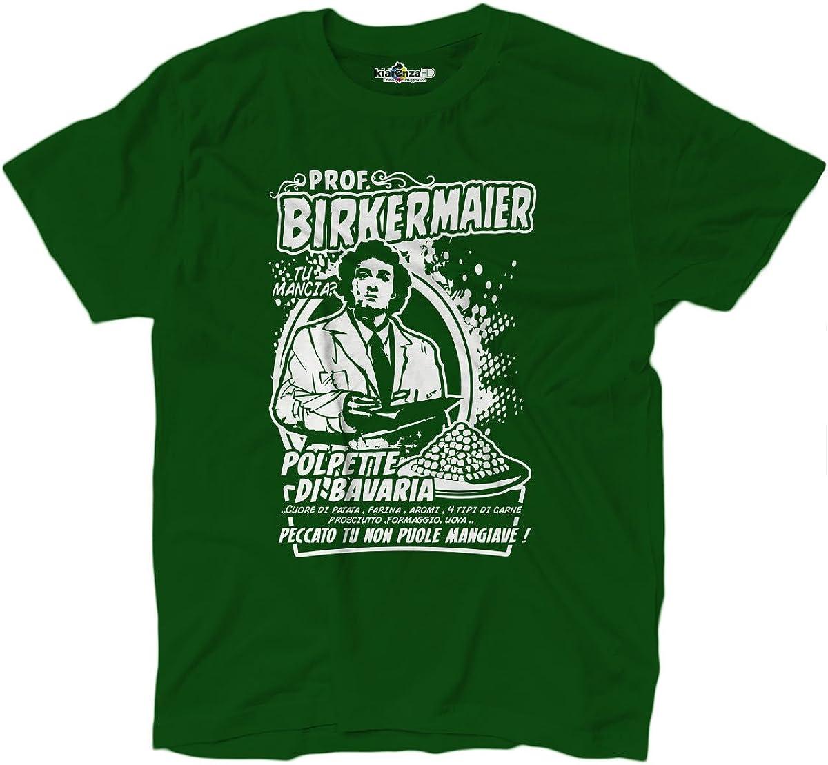 T-Shirt Uomo Film Trash Anni 80 Birkermaier Polpette Di Bavaria Tu Mancia Verde