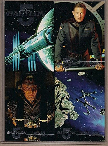 BABYLON 5 FLEER ULTRA 1995 RARE SILVER FOIL STAMPED UNCUT PROMO CARD SHEET NM