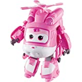"""Super Wings - Transforming Dizzy Toy Figure, Helicopter, Bot, 5"""" Scale, Pink"""
