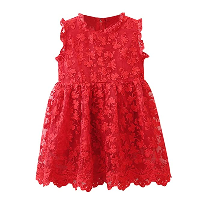 Malloom Niñas Bowknot Lace Princesa Falda Summer Sequins Vestidos para Bebés Niños Niños de 2-7 años de Edad: Amazon.es: Ropa y accesorios