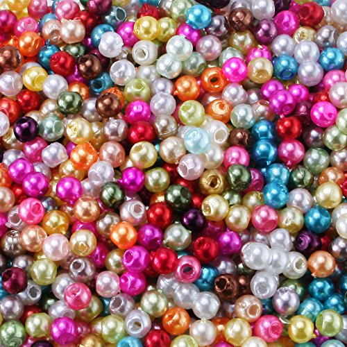 Charisma 3mm 1000pcs Tiny Satin Luster Glass Beads Imitation Pearl Round Loose Beads Wholesale for Jewelry Making (Round Imitation Pearls)