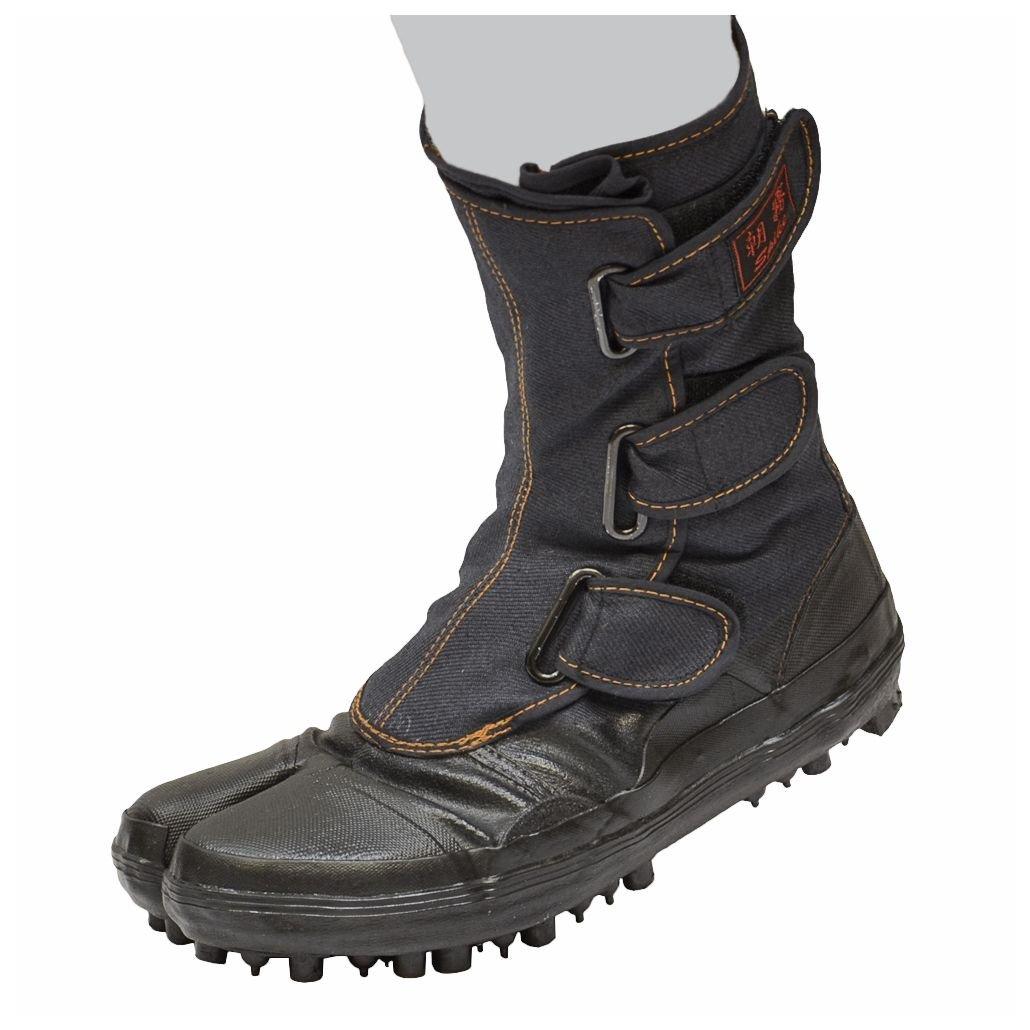 Japanese Tabi Shoes Ninja Boots Black 28CM(US10) Spike Rubber Boots MARUGO