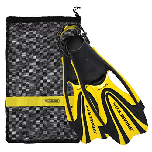 (U.S. Divers Proflex FX Fin with Mesh Carrying Bag, Yellow, Large)