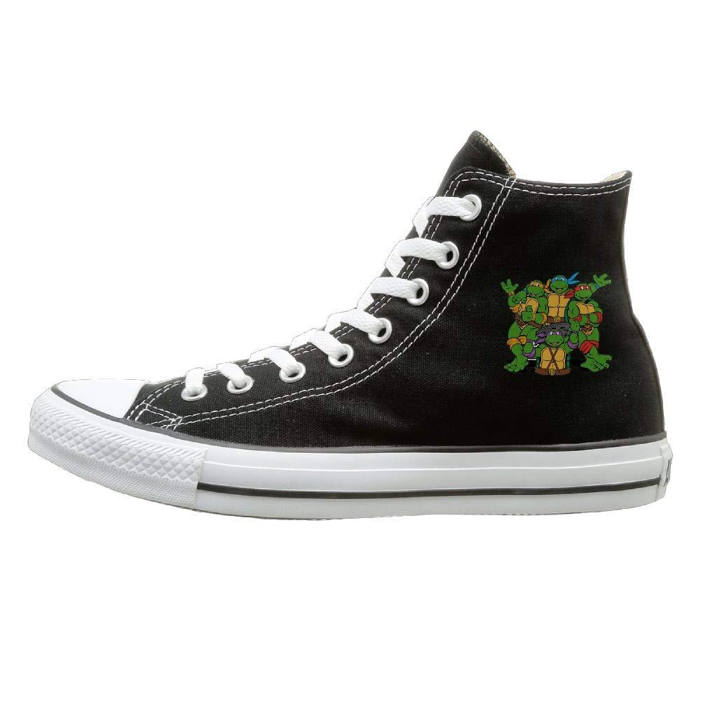 Amazon.com: Shenigon Ninja Turtle Canvas Shoes High Top ...