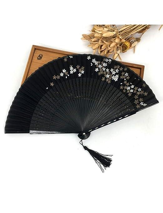 ATLD Abanico Plegable Ventilador Abanico Plegable De Bambú ...