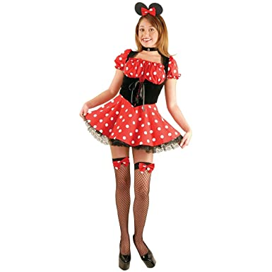 Adult Sexy Minnie Mouse Costume (SizeLarge 11-13)  sc 1 st  Amazon.com & Amazon.com: Adult Sexy Minnie Mouse Costume (Size:Large 11-13): Clothing