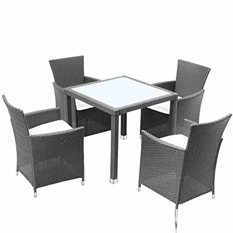Miadomodo Salotto giardino esterno set tavolo e sedie giardino in ...