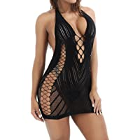 RJDJ Women Sexy Lingerie Babydoll Dress Nightclubs Underwear Hollow Out Sleepwear Chemise Dress