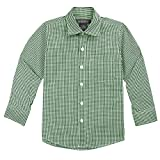 Spring Notion Big Boys' Long Sleeve Gingham Shirt 2T Forest Green