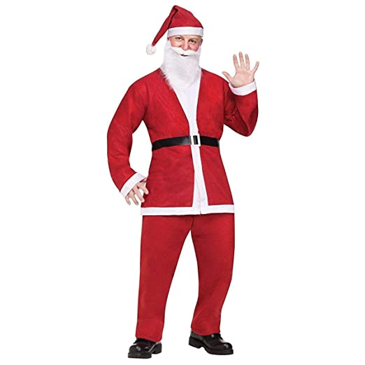 96ab6e3f0 Fun World Costumes Men's Adult Pub Crawl Santa Suit, Red/White, One Size