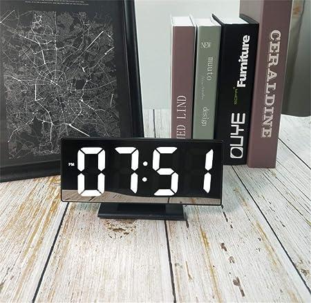 XZYP Radio Despertador Proyector, Creativo Reloj De Espejo Reloj ...