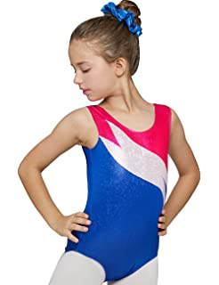 39dbf8885 Amazon.com  Child Long Sleeve Metallic Leotard G545C  Clothing