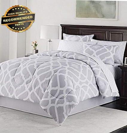Amazon.com: Gatton Premium New Kiley 8-Piece Queen Comforter ...