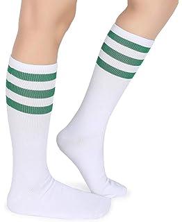 10-13 Large//X-Large Socco Socks Unisex White Triple Striped Orange//Royal Crew Tube Socks