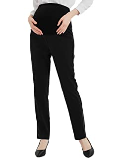 7e0671ec48c17 Bhome Maternity Jeans Stretch High Waisted Pants,Dress Pants for Work Career  Office Pants