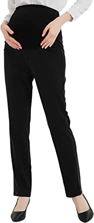 Bhome Maternity Jeans Stretch High Waisted Pants Dress Pants For Work Career Office Pants At Amazon Women S Clothing Store