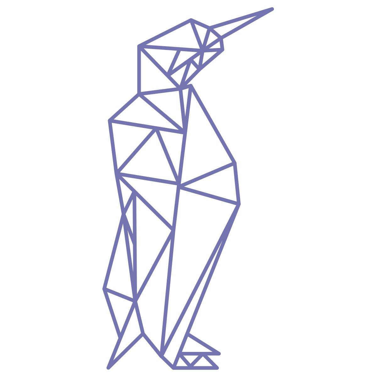 WANDKINGS Wandtattoo Wandtattoo Wandtattoo - Origami-Style Pinguin - 52 x 110 cm - HellRosa - Wähle aus 5 Größen & 35 Farben B07C9JDD3R Wandsticker & Wandfiguren 6e918c