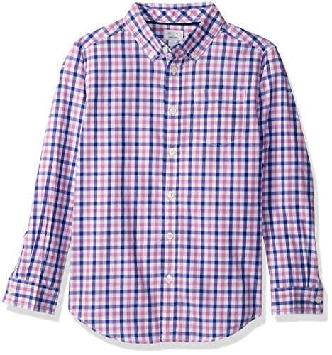 Gymboree Big Boys' Plaid Woven Shirt, Purple/Multi, (Purple Plaid Woven Shirt)