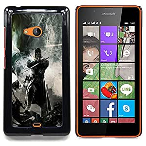 - Dark Warrior - - Cubierta del caso de impacto con el patr??n Art Designs FOR Microsoft Nokia Lumia 540 N540 Queen Pattern