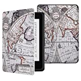 MoKo Case for Kindle Paperwhite, Premium Thinnest and Lightest PU Leather Cover with Auto Wake/Sleep for Amazon All-New Kindle Paperwhite (Fits 2012, 2013, 2015 and 2016 Versions), MAP B