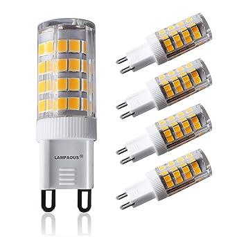 Lampaous 40 Lumens; Led G9 Basse 5wBlanc Halogènes Aux De Angle Faisceau360 400 W350 Dégrées; Ampoules 3000k5w Équivalent Chaud EYIWD29H