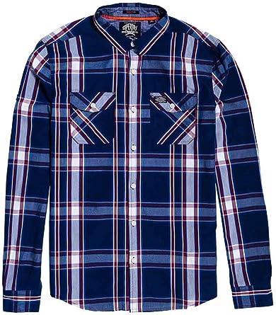 Superdry Camisa Washbasket Marino para Hombre: Amazon.es: Ropa y accesorios