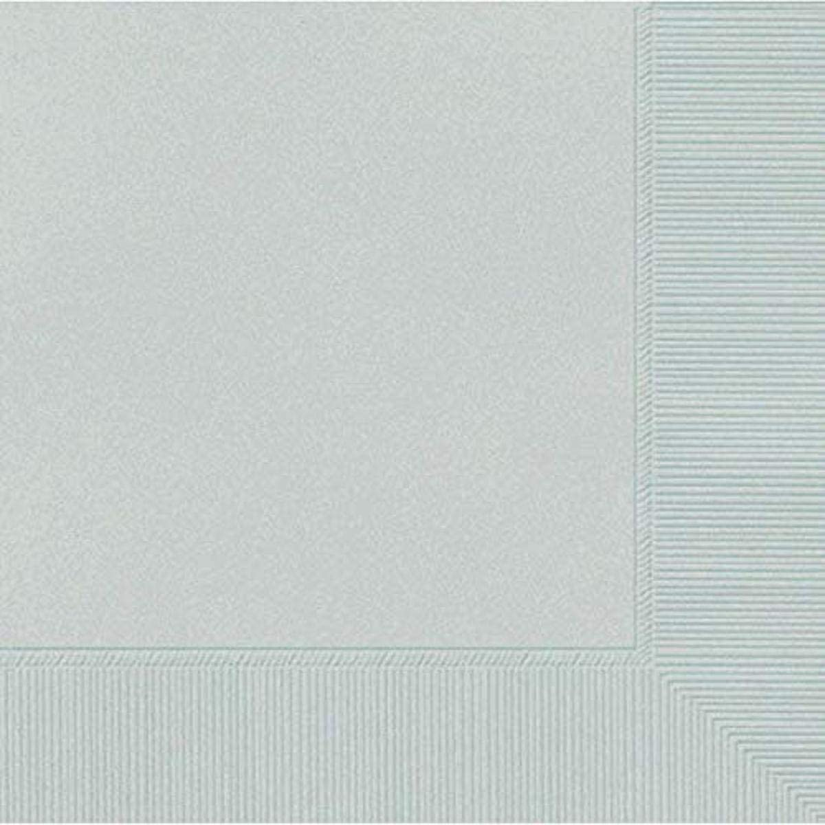 Silver 3-Ply Beverage Napkins | Party Supply | 240 ct.