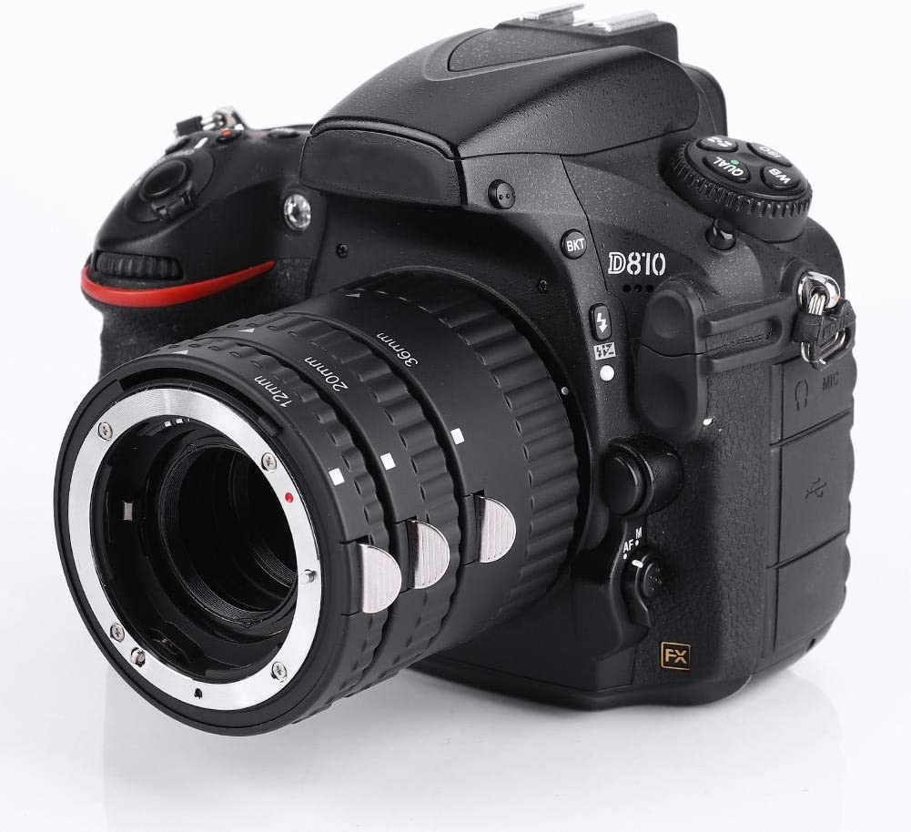 Oumij Camera Lens Ring N-AF-B Mcoplus Auto Focusing Macro Extension Lens Tube 12mm+20mm+36mm for Nikon F Mount DSLR Cameras