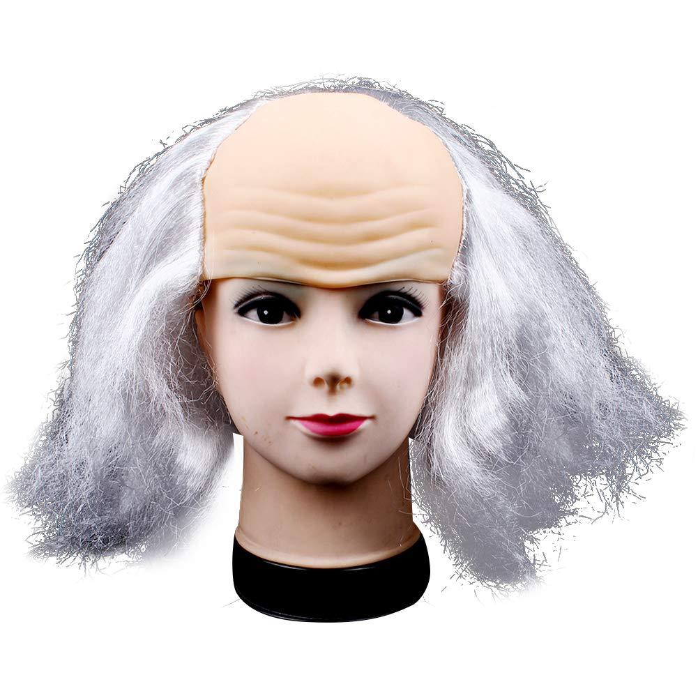 Halloween Costume for Women Men Kid Dress up Benjamin Franklin Mask Wig Headdress