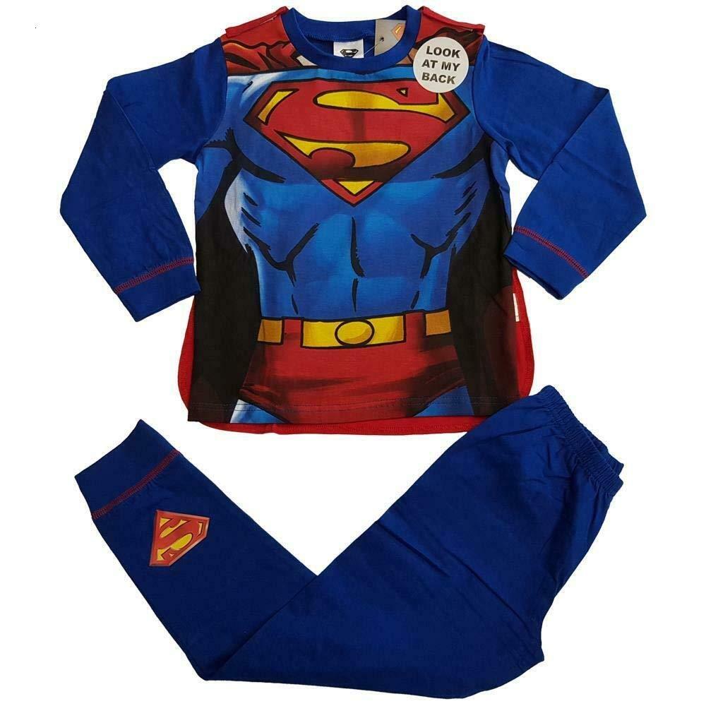 TDP Boys Superhero Sleepwear Long Pajamas Set Character Pyjamas Superman